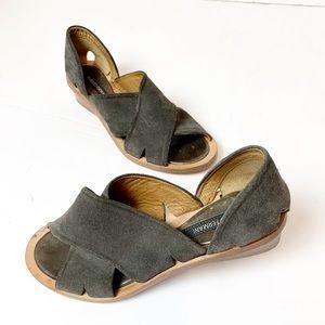 Alberto Fermani AF Trini Suede Leather Sandals 6.5
